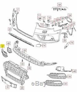 Neuf D'Origine Audi S3 2013-2017 Pare-Chocs avant Inférieur Grille Droit Noir