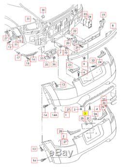 Neuf D'Origine Audi Tt 8N MK1 Pare-Chocs Arrière Bas Nid D'Abeille Réflecteur