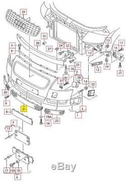 Neuf D'Origine Audi Tt Mk1 Pare Choc avant Inférieur Centre Grille Noir