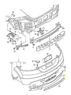 Neuf D'Origine Audi Tt TTS 07-14 Gris Pare-Choc Arrière Double Échappement