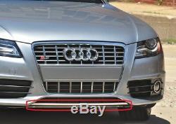 Neuf OEM Audi A4 B8 S-LINE avant Inférieur Spoiler Lèvre Haut Noir Brillant