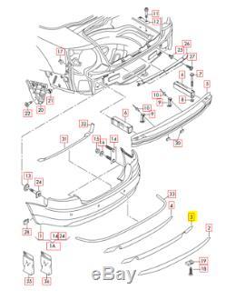 Neuf OEM Audi A4 Cabrio Pare-Choc Arrière Double Échappement Difusser Spoiler