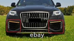 Neuf Original Audi Q7 V12 07-16 Set De Avant Pare-Choc Inférieur Grille Noir OEM