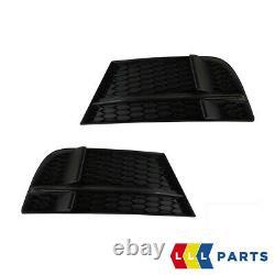 Neuf Original Audi S3 13-16 Pare Choc Avant Air Guide Grille Foncé Chrome Paire