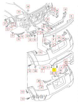 Neuf Original Audi Tt TTS Pare-Chocs Inférieur Jupe Excellent Réflecteur