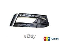 Neuf Véritable Audi A1 15-18 Pare Choc avant Platine Gris Feu Anti Brouillard