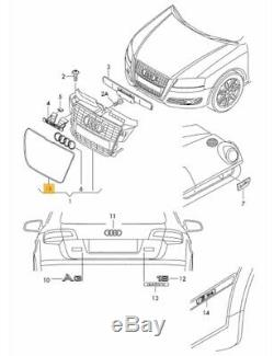 Neuf Véritable Audi A3 08-13 Pare Choc avant Centre Grille Encadrement Chrome