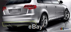 Neuf Véritable Audi A3 09-13 S-LINE Arrière Pare Chocs Diffuseur Bordure Double