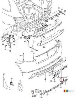Neuf Véritable Audi A3 09-13 S-LINE Arrière Pare Chocs Diffuseur Bordure Simple