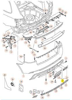Neuf Véritable Audi A3 09-13 S-LINE Gris Pare-Chocs Arrière Diffuseur Garniture