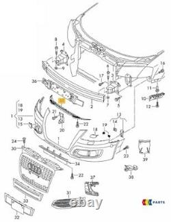 Neuf Véritable Audi A3 8P 2009 2013 Avant Pare-Choc Protection Plaque Bordure