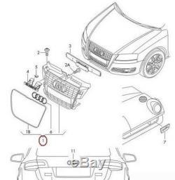 Neuf Véritable Audi A3 Noir Brillant avant Centre Grille Pare-Choc 8P0853651MVMZ