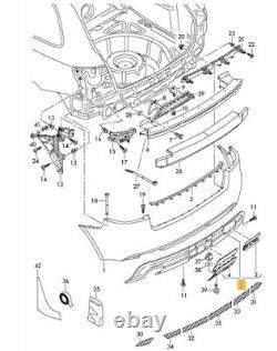 Neuf Véritable Audi A3 Sportback 2009-2013 Pare-Chocs Bas Réflecteur