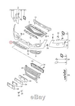 Neuf Véritable Audi A4 Allroad Fci Pare-Chocs avant Inférieur Plaque Underide