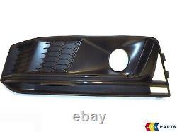 Neuf Véritable Audi A4 B9 16- S-LINE Avant Pare-Choc Foncé Chrome Bas Gril Left