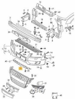 Neuf Véritable Audi A5 08-11 S LINE Pare Choc avant Réflecteur Bordure Noir