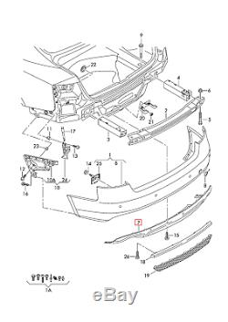 Neuf Véritable Audi A5 S-LINE 2012 2016 Pare-Chocs Arrière Diffuseur Garniture