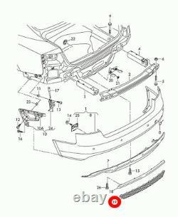 Neuf Véritable Audi A5 S5 08-12 Arrière S-LINE Pare-Choc Réflecteur Bord Grille