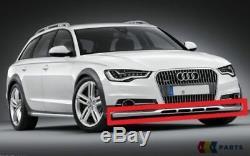 Neuf Véritable Audi A6 C7 Allroad 13-17 Bas Pare Choc avant Inox Barre Bordure