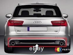 Neuf Véritable Audi A6 S LINE Pare-Chocs Arrière Double Tuyau Platine Gris