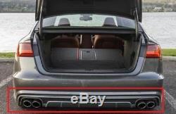 Neuf Véritable Audi A6 S6 Noir Arrière Platine Gris Déflecteur Pare-Choc