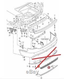 Neuf Véritable Audi A6 avant 09-11 Arrière S LINE Pare-Choc Réflecteur Grill