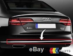 Neuf Véritable Audi A8 14-17 Pare-Chocs Arrière Centre Chrome Moulure Bordure