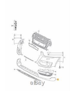 Neuf Véritable Audi Q3 2012-2016 Pare Choc avant Noir Becquet Inférieur