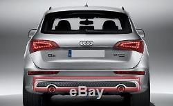Neuf Véritable Audi Q5 S-LINE Diffuseur Pare-Chocs Insert Garniture Double Tuyau