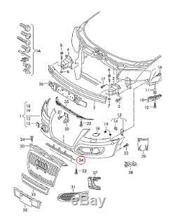Neuf Véritable Audi S3 09-13 Pare-Chocs avant Inférieur Becquet Gris