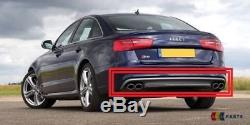 Neuf Véritable Audi S6 11-14 Arrière Pare Chocs Diffuseur Bordure Double Tuyau