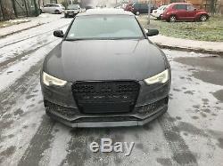 Noir Mat Plastique ABS Pare Choc avant Bavette Bague pour Audi A5 B8 8 T