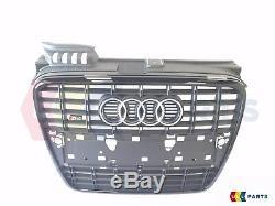 Nouveau Audi Véritable A4 B7 8E (2004-2008) S4 Noir Logo Pare-Choc avant Grille