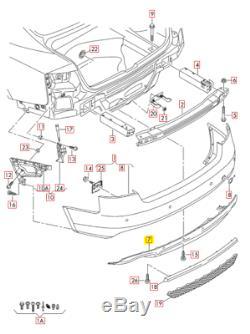 Original Audi A4 08-12 Arrière S-LINE Pare-Chocs Platine Diffuseur 8K0807521C