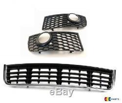 Original Audi A4 B6 S-LINE Grille Pare-Choc Contour Phare Anti Brouillard Centre