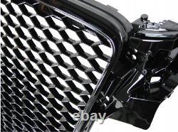 POUR Audi A4 B8 2007-2011 RS TUNING CALANDRE front pare-chocs Noir brillant