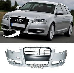 Pare Choc Avant Avec Lave Phare Et Pdc Trous Compatible Avec Audi A6 C6 Fl