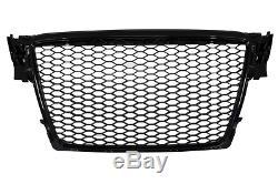 Pare Choc, Calandre, Grille Avant Audi A4 B8 08-11 Black Rs-style Noir Brillant
