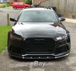 Pare-Choc avant / Tablier / Lame / Séparateur / Spoiler pour Audi RS6 4G C7