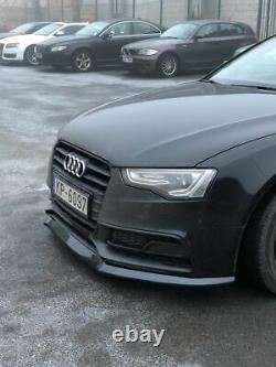 Pare-Choc avant pour Audi A5 S5 B8 8T Facelift Plastique ABS Noir Brillant