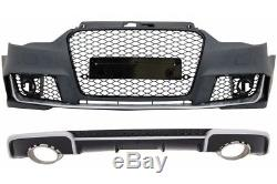 Pare-choc Diffuseur Embouts d'échappement Audi A3 8V 12-15 Hatchback RS3 Design