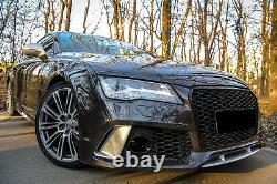 Pare-choc Pièces Ornements Grilles pour Audi A7 4G 10-18 RS7 Look SRA Couverture