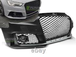Pare choc avant pour Audi A3 8V 2012-2016 look Sport calandre noir