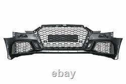 Pare-choc pour AUDI A3 8V Facelift 2016-2019 Sedan Cabrio RS3 Look Noir brillant