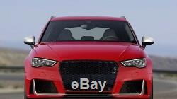 Pare-chocs Audi A3 S3 8V 12-15 Calandre Nid d'abeille RS3 Design Noir Brillant