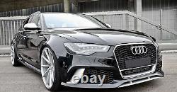 Pare-chocs Avant Pour Audi A6 C7 4G Facelift 11-14 RS6 Look Diffuseur d'échap