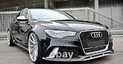 Pare-chocs Avant pour Audi A6 C7 4G 2011-2015 RS6 Look Avec Calandre SRA