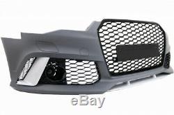 Pare-chocs Avant pour Audi A6 C7 4G Facelift 11-14 RS6 Look Diffuseur Échappeme