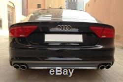 Pare-chocs Diffuseur Conseils D'échappement Pour Audi A7 4G 10-14 S7 Facelift D