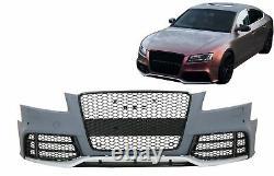 Pare-chocs avant pour Audi A5 8T Pre Facelift 08-11 RS5 Look Rayon miel Grilles